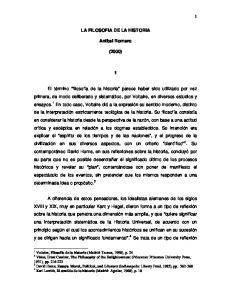 LA FILOSOFIA DE LA HISTORIA. Anibal Romero (2000)