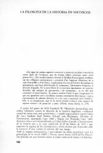 LA FILOSOFIA DE LA HISTORIA EN NIETZSCHE