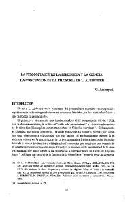 LA FILOSOFIA ENTRE LA IDEOLOGIA Y LA CIENCIA. LA CONCEPCION DE LA FILOSOFIA DE L. ALTHUSSER