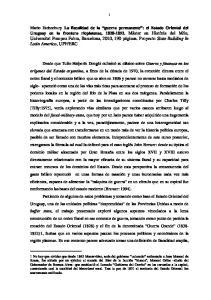 La fiscalidad de la guerra permanente : el Estado Oriental del Uruguay en la frontera rioplatense,