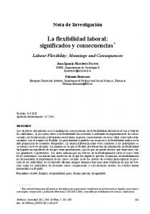 la flexibilidad laboral: significados y consecuencias *