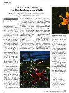 La floricultura en Chile