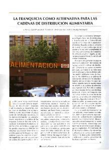LA FRANQUICIA COMO ALTERNATIVA PARA LAS CADENAS DE DISTRIBUCION ALIMENTARIA