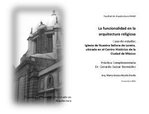 La funcionalidad en la arquitectura religiosa