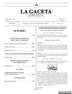 LA GACETA DIARIO OFICIAL