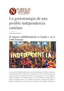 La geoestrategia de una posible independencia catalana