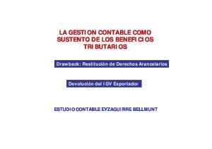 LA GESTION CONTABLE COMO SUSTENTO DE LOS BENEFICIOS TRIBUTARIOS