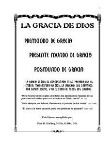 LA GRACIA DE DIOS PREMUNDO DE GRACIA