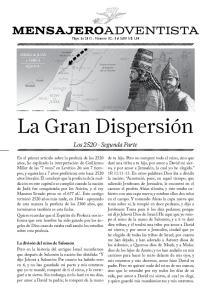 La Gran Dispersión. MensajeroAdventista. Los Segunda Parte