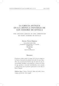 LA GRECIA ANTIGUA EN LA CRÓNICA UNIVERSAL DE SAN ISIDORO DE SEVILLA