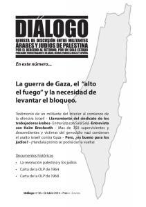 La guerra de Gaza, el alto el fuego y la necesidad de levantar el bloqueo