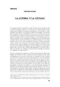 LA GUERRA Y LA CIUDAD