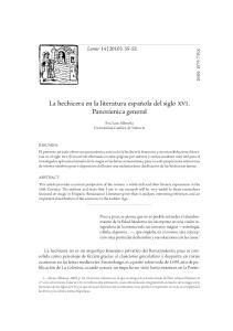 La hechicera en la literatura española del siglo xvi. Panorámica general