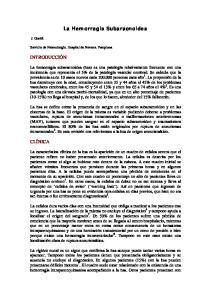 La Hemorragia Subaracnoidea