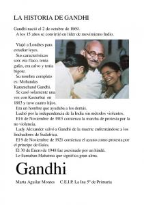 LA HISTORIA DE GANDHI