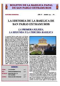 LA HISTORIA DE LA BASILICA DE SAN PABLO EXTRAMUROS