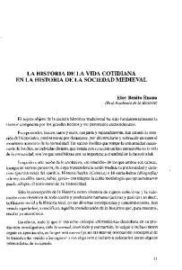 LA HISTORIA DE LA VIDA COTIDIANA EN LA HISTORIA DE LA SOCIEDAD MEDIEVAL