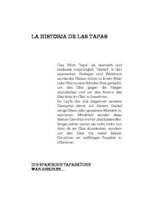 LA HISTORIA DE LAS TAPAS
