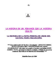 LA HISTORIA DE UN ROMANCE QUE LA HISTORIA OCULTO