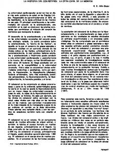 LA HISTORIA DEL COLESTEROL: LA OTRA CARA DE LA MONEDA