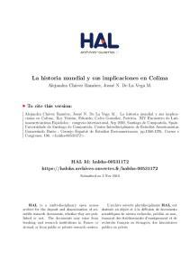 La historia mundial y sus implicaciones en Colima