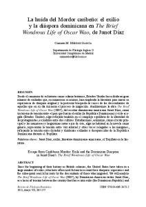 La huída del Mordor caribeño: el exilio y la diáspora dominicana en The Brief Wondrous Life of Oscar Wao, de Junot Díaz