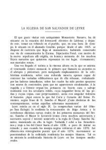 LA IGLESIA DE SAN SALVADOR DE LEYRE