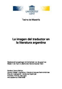 La imagen del traductor en la literatura argentina