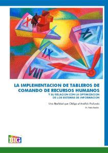 LA IMPLEMENTACION DE TABLEROS DE COMANDO DE RECURSOS HUMANOS Y SU RELACION CON LA OPTIMIZACION DE LOS SISTEMAS DE INFORMACION