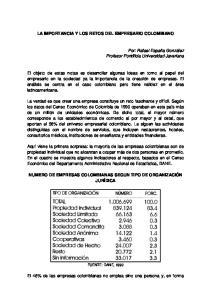 LA IMPORTANCIA Y LOS RETOS DEL EMPRESARIO COLOMBIANO
