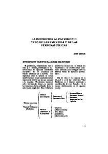 LA IMPOSICION AL PATRIMONIO NETO DE LAS EMPRESAS Y DE LAS PERSONAS FISICAS