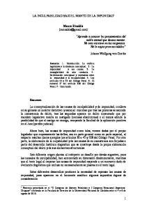 LA INCULPABILIDAD BAJO EL MANTO DE LA IMPUNIDAD 1. Mauro Rinaldis