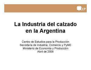 La Industria del calzado en la Argentina
