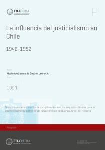 La influencia del justicialismo en Chile