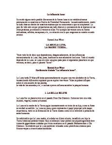 La influencia lunar. Samael Aun Weor. LA ABUELA LUNA, LA MADRE TIERRA