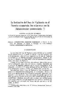 La Institucibn del Juez de Vigilancia en el Derecho comparado : Sus relaciones con la Administraci6n penitenciaria (')