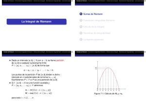 La Integral de Riemann