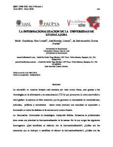 LA INTERNACIONALIZACION DE LA UNIVERSIDAD DE GUADALAJARA