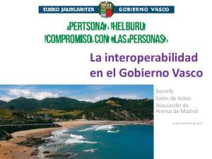 La interoperabilidad en el Gobierno Vasco