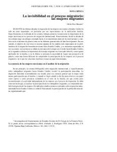 La invisibilidad en el proceso migratorio: las mujeres migrantes