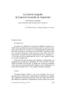 La Isabela (tragedia de Lupercio Leonardo de Argensola)