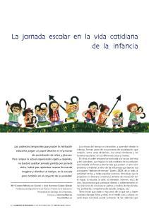 La jornada escolar en la vida cotidiana de la infancia