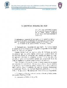 LA JUSTICIA INGLESA DE HOY