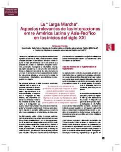 La Larga Marcha. Aspectos relevantes de las interacciones entre América Latina y Asia-Pacífico en los inicios del siglo XXI