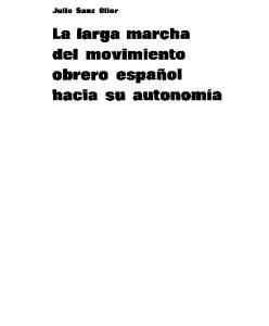 La larga marcha del movimiento obrero español