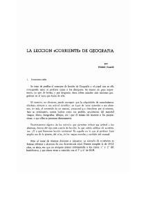 LA LECCION ((CORRIENTE)) DE GEOGRAFIA
