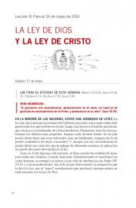 LA LEY DE DIOS Y LA LEY DE CRISTO