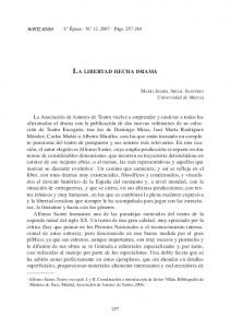 LA LIBERTAD HECHA DRAMA