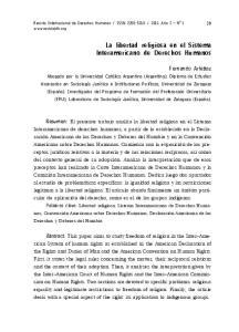 La libertad religiosa en el Sistema Interamericano de Derechos Humanos