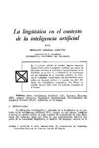 La lingüística en el contexto de la inteligencia artificial